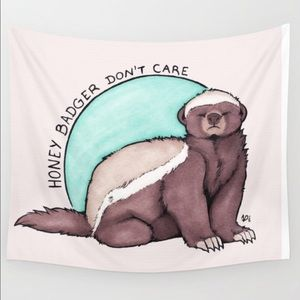 Honey Badger Don't Care Wall Tapestry